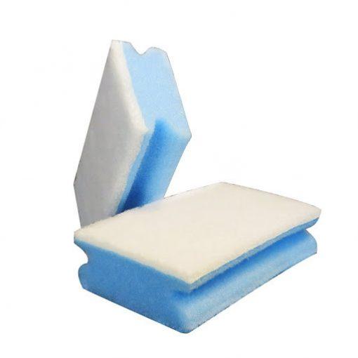 3M szivacs dörzsis 70 x 150 mm Nr.2272 fehér/kék