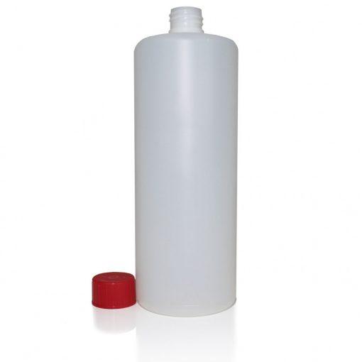 Buzil műanyag flakon kupakkal, 1 liter