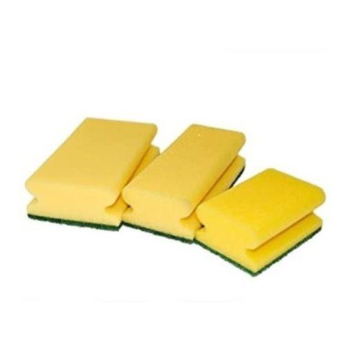 Sigron kézi szivacs 15x7x4cm zöld/sárga