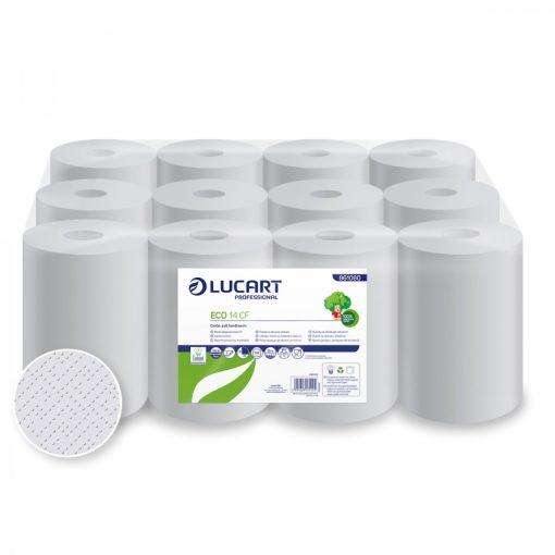 Lucart Eco 14 tekercses kéztörlő 2 rétegű fehér 12x55 m