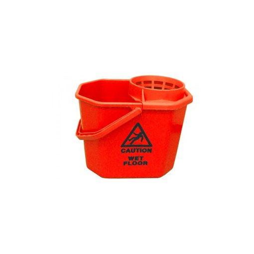 Euromop felmosóvödör, csavarókosárral, 12 literes, piros, 3001067.02