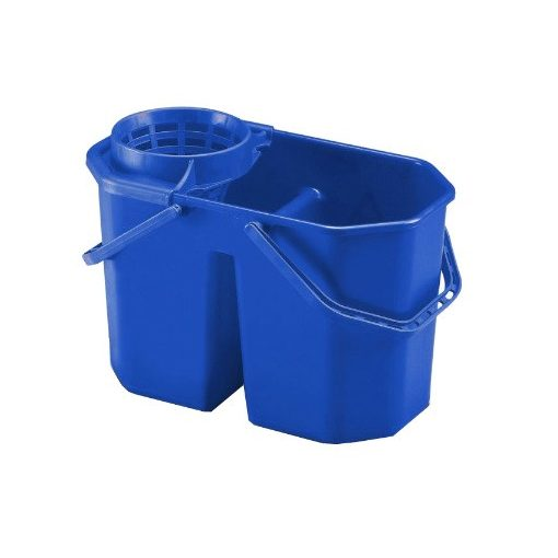 Euromop felmosóvödör, csavarókosárral, dupla, 15 literes, kék, 3001068.15