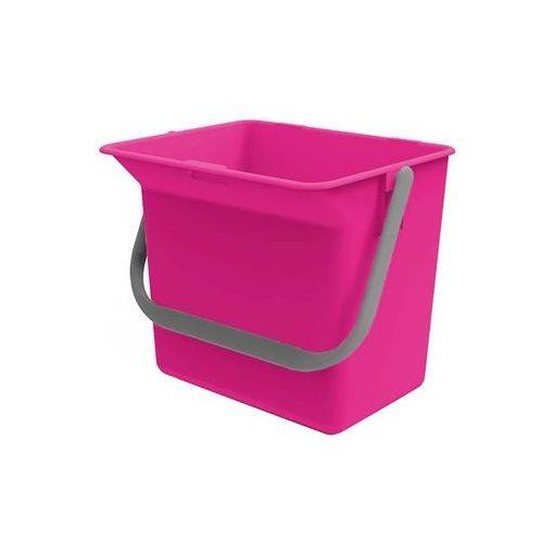 Euromop tartozék, vödör, 6 literes, pink, 7000017.18, tak.k.