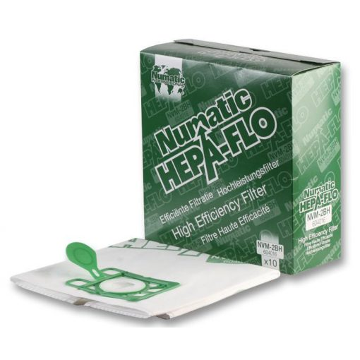 Numatic papírporzsák NVM2BH HEPA mikroszűrővel 10db