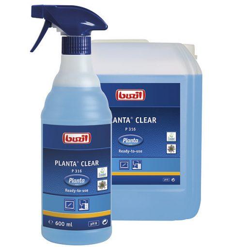 Buzil Planta Clear ablaktisztító, 600 ml