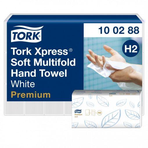 Tork Premium Xpress Multifod kéztörlő, soft H2 2 r, fehér, 21x110lap SCA100288
