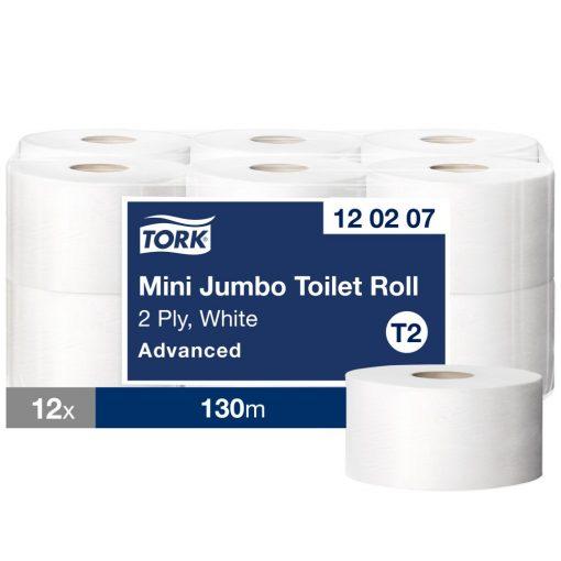 Tork Mini Jumbo toalettpapír T2 2 r, fehér, 12x130m SCA120207