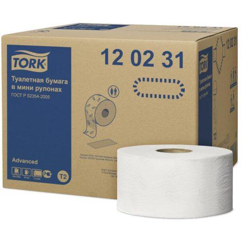 Tork Advanced mini jumbo toalettpapír, soft T2 2 r, fehér, 12x170 m SCA120231