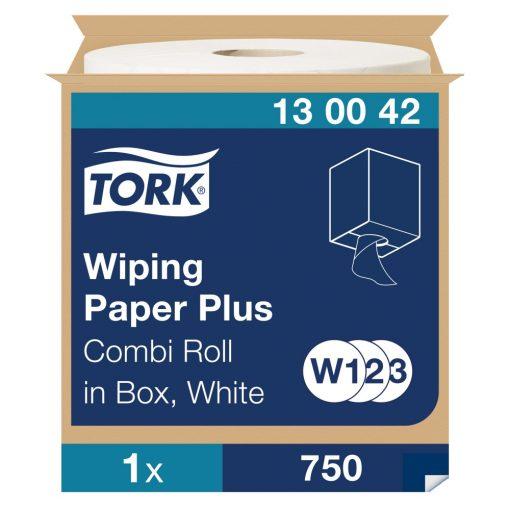 Tork törlőpapír plusz, dobozos kombi tekercses W1/W2/W3 2r, fehér, 1x255m SCA130042