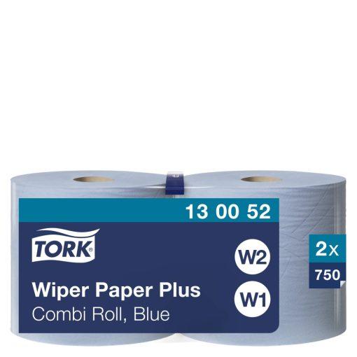 Tork törlőpapír plusz, kombi tekercses W1/W2 2r, kék, 2x255m SCA130052