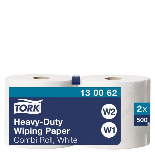 Tork nagyteljesítményű törlőpapír, kombi tekercses W1/W2 2r, fehér, 2x170m SCA130062