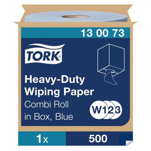 Tork nagyteljesítményű törlőpapír, dobozos kombi tekercses W1/W2/W3 2r, kék 1x170m SCA130073