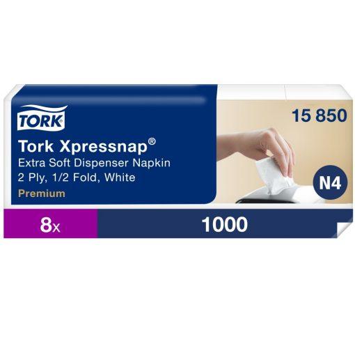 Tork Premium interfolded 1/2 hajtogatott adagolós szalvéta N4 2r, fehér, 8x5x200lap SCA15850