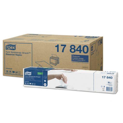 Tork Xpressnap SnackTM Universal adagolós szalvéta N10, 1 r, fehér, 21,6x21,6 SCA17840