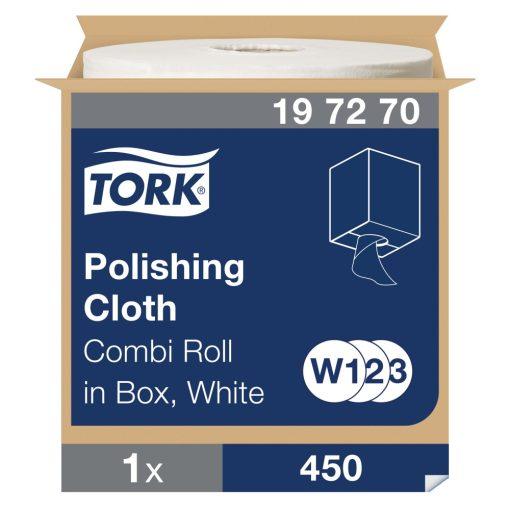 Tork polírozó kendő, kombi tekercses W1/W2/W3 1r, fehér, 1x171 m SCA197270