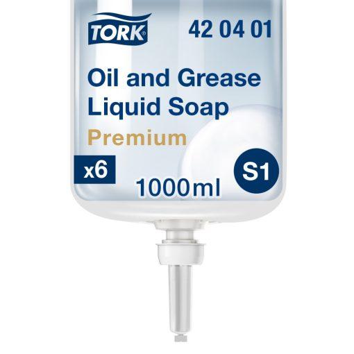 Tork Premium olaj és zsíroldó folyékony szappan S1 színtelen, 1 liter SCA420401