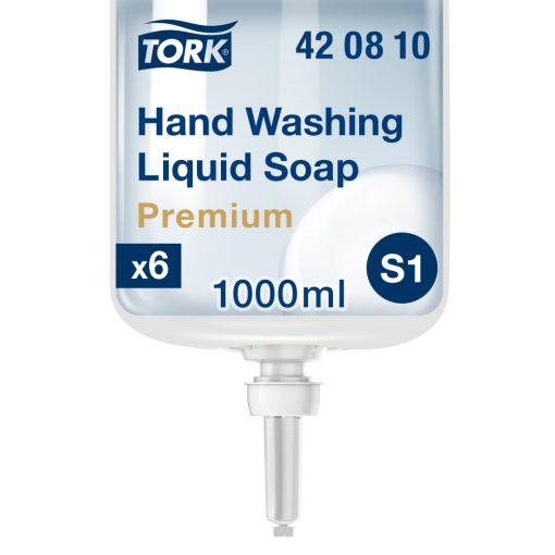 Tork Premium Extra Hygiene folyékony szappan S1 színtelen, 1 liter SCA420810