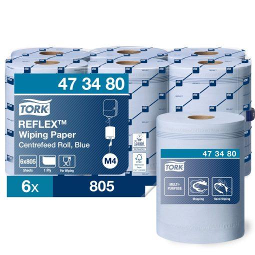 Tork Reflex törlőpapír, belsőmagos M4 1r, kék, 6x270m SCA473480