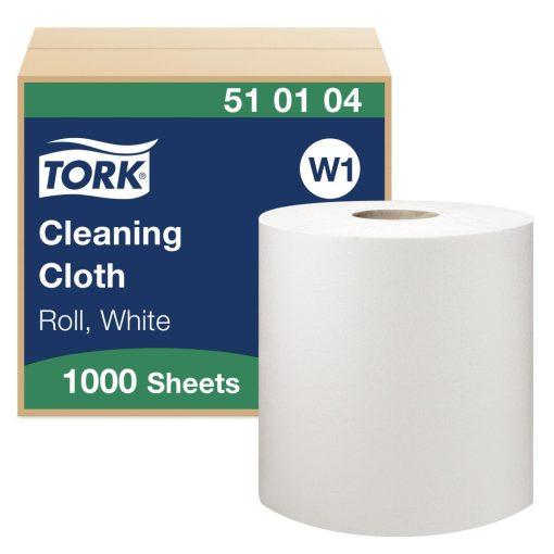 Tork tisztítókendő, tekercses W1 1r, fehér, 1x380 m SCA510104