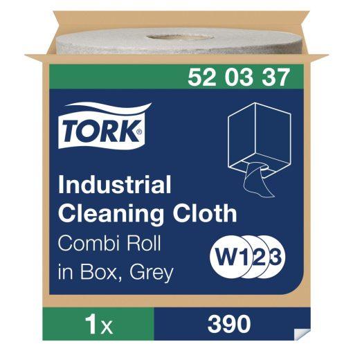 Tork ipari tisztítókendő, dobozos kombi tekercses W1/W2/W3 1r, szürke, 1x148 m SCA520337