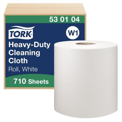 Tork nagyteljesítményű tisztítókendő, tekercses W1 1r, fehér 1x 270 m SCA530104
