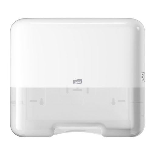 Tork mini adagoló Singlefold Z és C hajtogatású kéztörlőkhöz H3 fehér SCA553100