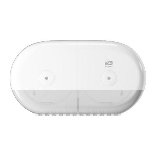 Tork SmartOne Mini duplatekercses toalettpapír adagoló T9 Elevation, fehér, ABS 22,1x39,8x15,6 cm SCA682000