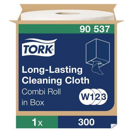 Tork többször használható tisztítókendő, dobozos kombi tekercses W1/W2/W3 1r, fehér, 1x114m SCA90537