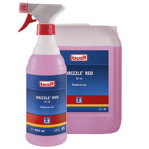 Buzil Drizzle red savas szaniter napi tisztítószer, 600 ml