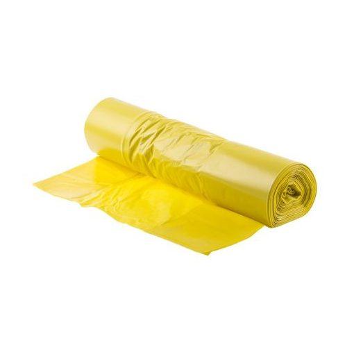 Szemeteszsák 50x50 cm 0.015 mm, 25 liter, 20db sárga