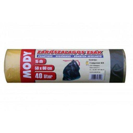Szemeteszsák Moody 50x60 cm 0.015 mm, 40 liter, 15db